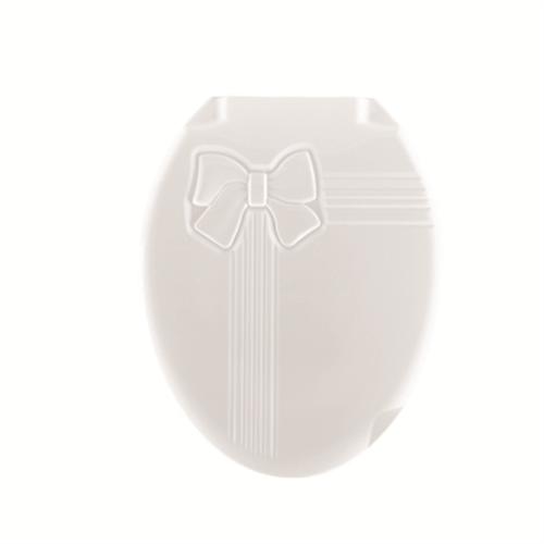 Пластиковая крышка для унитаза бантик