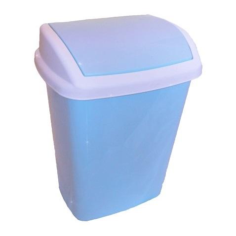 Ведро для мусора голубое
