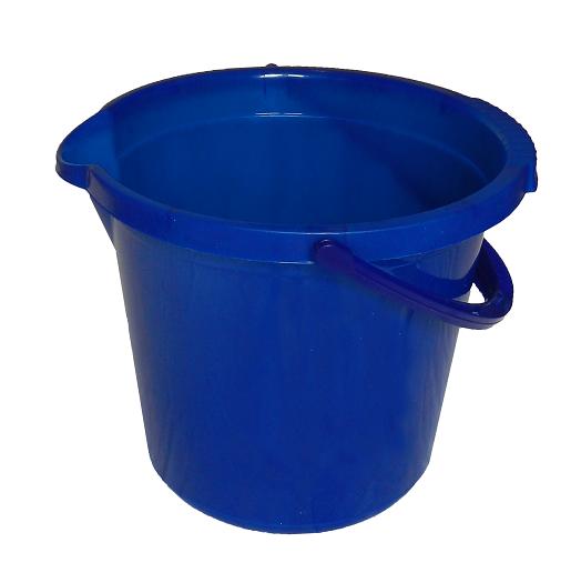 Ведро 14л синее прозрачное