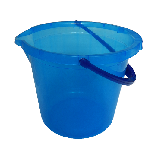 Ведро 14л голубое прозрачное