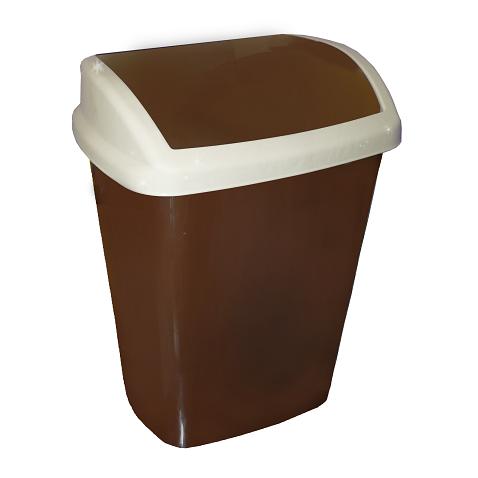 Ведро для мусора коричневое